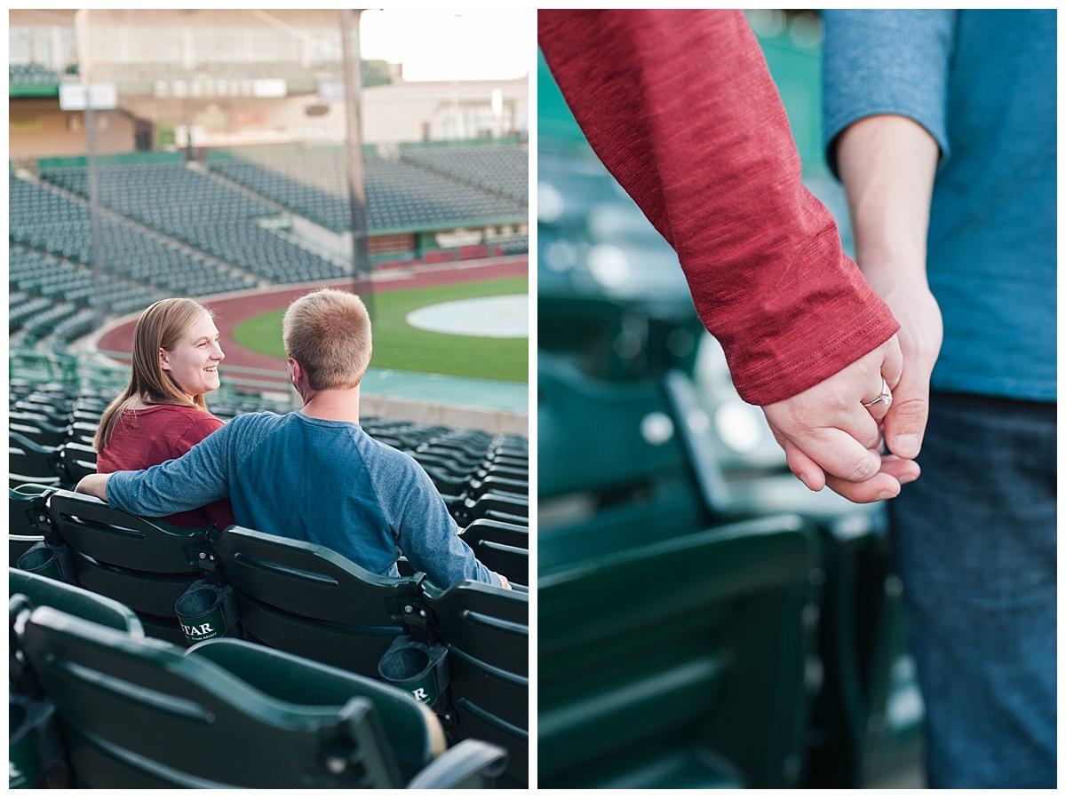 baseball stadium engagement session_0175