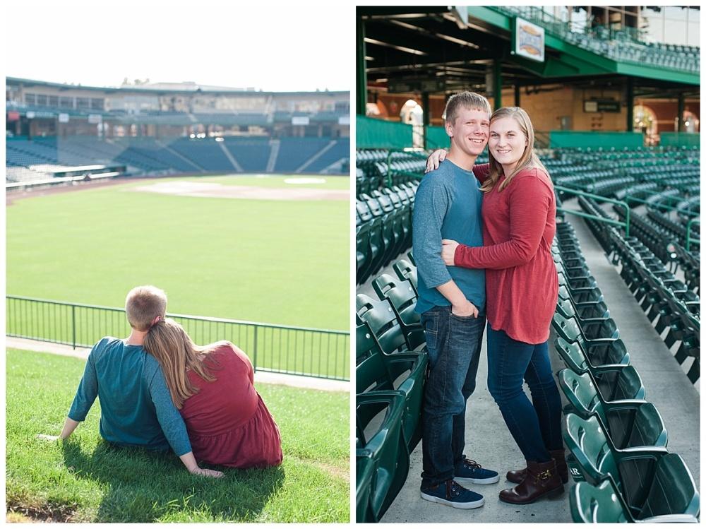 baseball stadium engagement session_0176