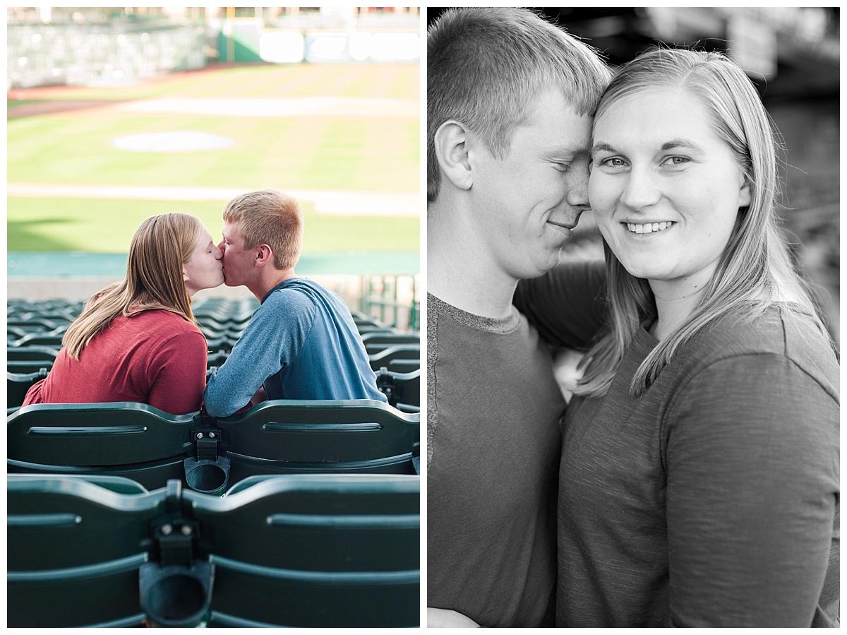 baseball stadium engagement session_0177