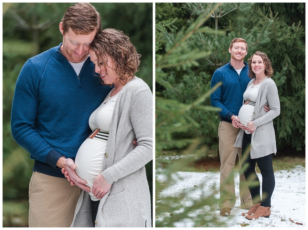 evergreen Christmas maternity photography_0174