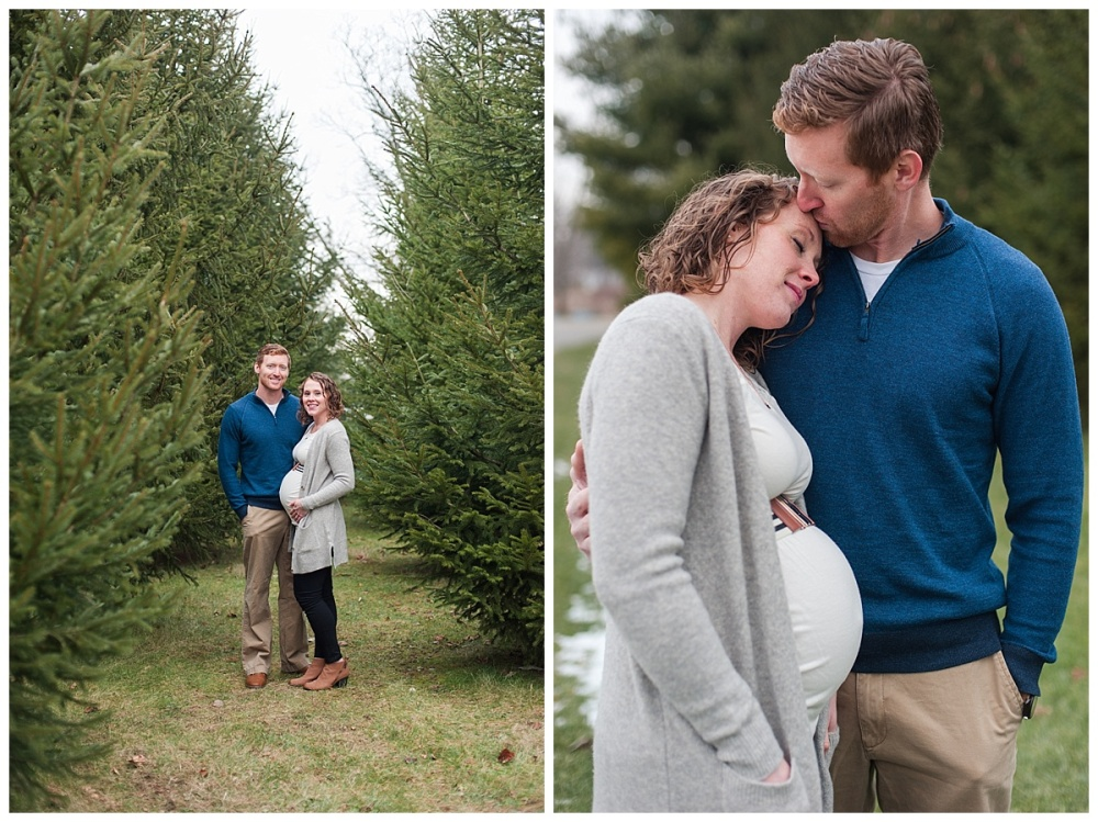 evergreen Christmas maternity photography_0177