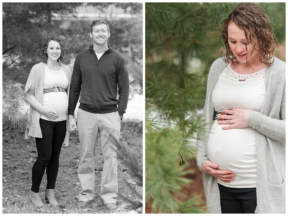 evergreen Christmas maternity photography_0179