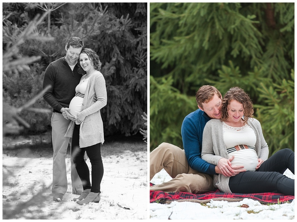 evergreen Christmas maternity photography_0181